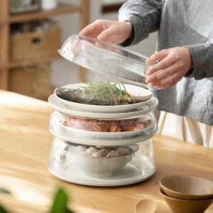 Clear Stackable Food Cover Dining Table Kitchen Countertop Insulated Style Degree Sg Singapore