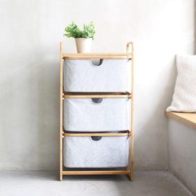 Gaia 3-tier Storage Drawer Organizer Bedding Shelving Rack Style Degree Sg Singapore