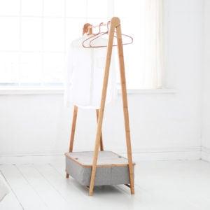 Gaia Foldable Clothes Rack With Storage Box Open Wardrobe Closet Style Degree Sg Singapore