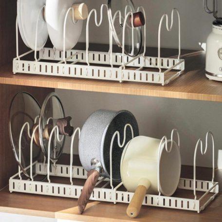Extendable Pots & Pans Adjustable Rack Kitchen Cabinet Organizer Lid Board Racking Storage Style Degree Sg Singapore