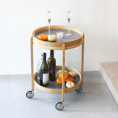 Gaia Bar Cart With Detachable Tray Rolling Trolley Wheels Coffee Table Living Room Kitchen Style Degree Sg Singapore