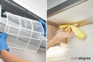 Clean aircon vents and kitchen hood, how to clean house after renovation, post renovation cleaning tips, Style Degree, Singapore, SG, StyleMag.