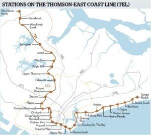 Thomson East Coast Line map, Thomson-East Coast line progress, Style Degree, Singapore, SG, StyleMag.