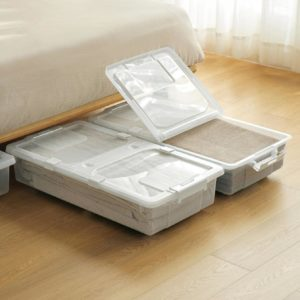 2-Way Opening Underbed Storage Box With Wheels Roller Rollable Style Degree Sg Singapore