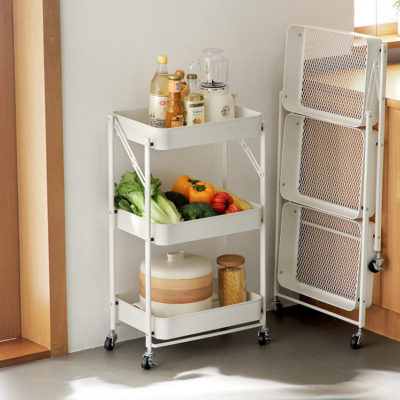 Grande Foldable Storage Trolley Cart Kitchen Dining Steamboat Rack With Wheels Style Degree Sg Singapore