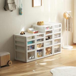 Multi-Tier Plastic Drawer Storage Box Unit Kids Children Toys Books Style Degree Sg Singapore