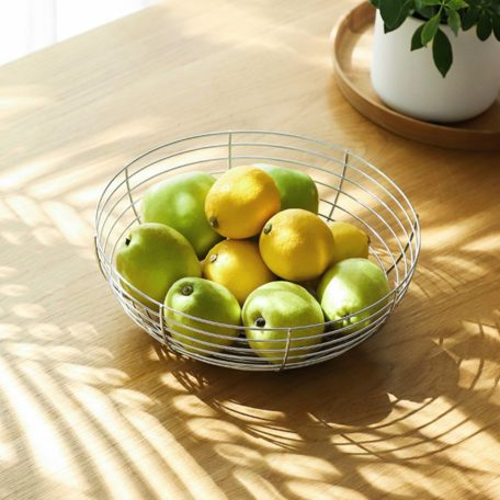Urban Stainless Steel Fruit Bread Snacks Basket Food Storage Container Style Degree Sg Singapore