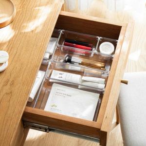 Clarity Customisable Drawer Organizer Clear Storage Box Utensils Holder Kitchen Style Degree Sg Singapore