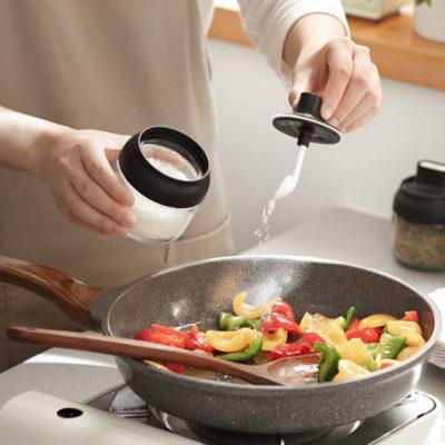 Seasoning & Honey Glass Jar (With Lid Spoon)