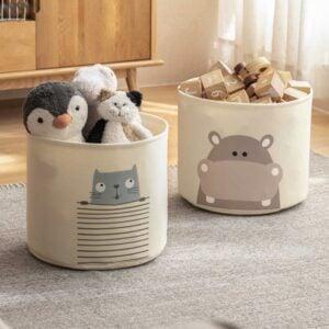 Adorable Kids Toy Storage Basket Children Baby Toys Box Container Organizer Style Degree Sg Singapore