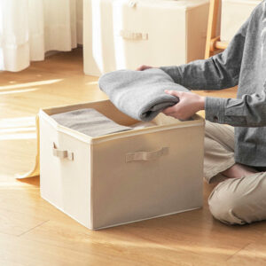 Canvas Collapsible Storage Box Bedding Quilt Clothes Storage Bag Holder Container Style Degree Sg Singapore