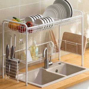 Grande Over-The-Sink Dinnerware & Utensils Drainer Rack