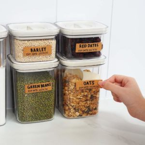 Retro Writable Sticker Labels Labelling Food Jars Storage Box Container Style Degree Sg Singapore