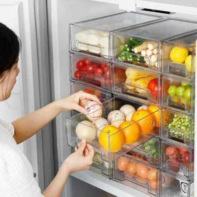 Klear Stackable Fridge Storage Drawers Bin Organizer Food Holder Freezer Style Degree Sg Singapore