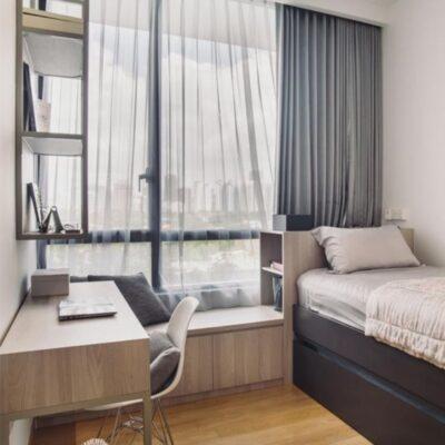Bay window headboard, Bay window lounge area StyleDegree, StyleMag, Singapore, SG