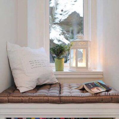 Bay window bookshelf, Bay window reading nook, StyleDegree, StyleMag, Singapore, SG