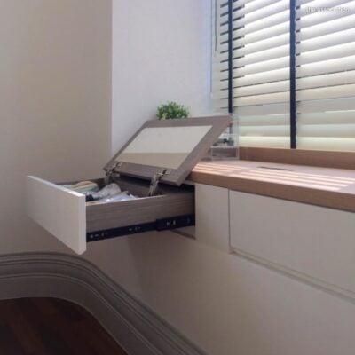 Bay window drawers, Bay window storage, Bay window vanity, Bay window slide out vanity, StyleDegree, StyleMag, Singapore, SG