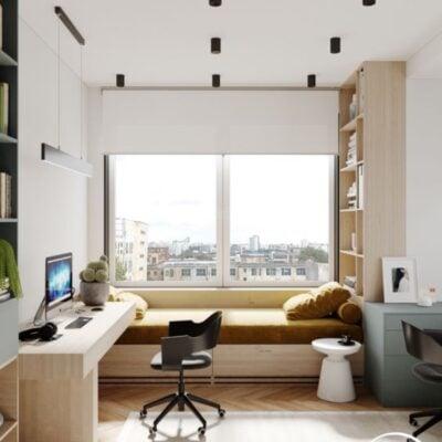 Bay window platform bed, Platform bed with storage, Bay window with shelf, StyleDegree, StyleMag, Singapore, SG