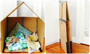 diy cardboard houses, easy cardboard houses