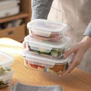 Glass Lunch Box & Food Container Fridge Food Holder Microwaveable Style Degree Sg Singapore