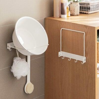 Grande Bucket & Pail Wall Holder Bathroom Rack Wall Shelf Cleaning Style Degree Sg Singapore