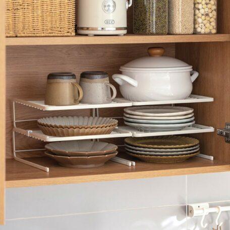 Grande Plate & Bowl Stackable Organizer Rack Dinnerware Kitchen Cabinet Plates Bowls Holder Style Degree Sg Singapore