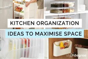 Kitchen organization ideas, Kitchen Organizing Tips, How to maximise space in a kitchen, How to organize a cabinet, StyleDegree, StyleMag, SG, Singapore
