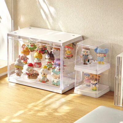 Clear Figurine & Toys Display Case Storage Box Desk Style Degree Sg Singapore