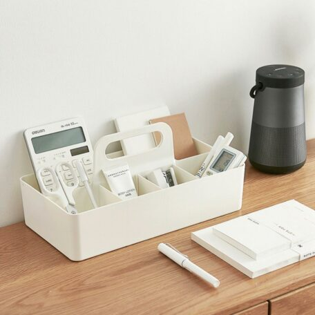 Compartmentalised Stackable Storage Caddy Desk Stationery Organizer Holder Style Degree Sg Singapore