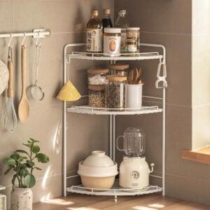 Grande Corner Shelving Rack Kitchen Countertop Bathroom Racking Standing Racks Shelf Style Degree Sg Singapore