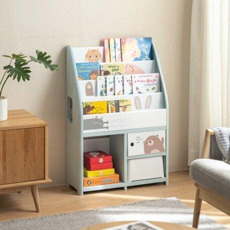 Pastelly Kids Books & Reading Shelf Children Baby Shelving Rack Style Degree Sg Singapore
