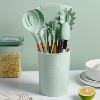 Silicone 11-Piece Cooking & Baking Utensils Set Spatula Scrapper Turner Whisk Brush Tongs Style Degree Sg Singapore