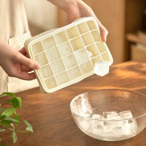 Silicone Ice Cube Maker Tray (With Lid) Fridge Freezer Storage Style Degree Sg Singapore