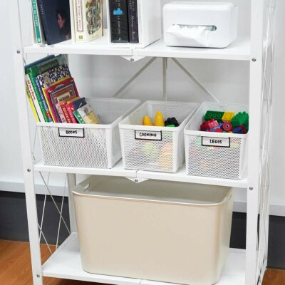 Toughly Storage Bin (With Magnetic Label) Pantry Kitchen Cabinet Work Study Desk Holder Style Degree Sg Singapore