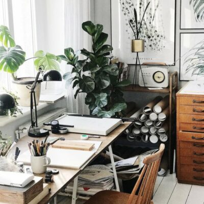 Plants in a study room ideas, Singapore, SG, StyleDegree, StyleMag
