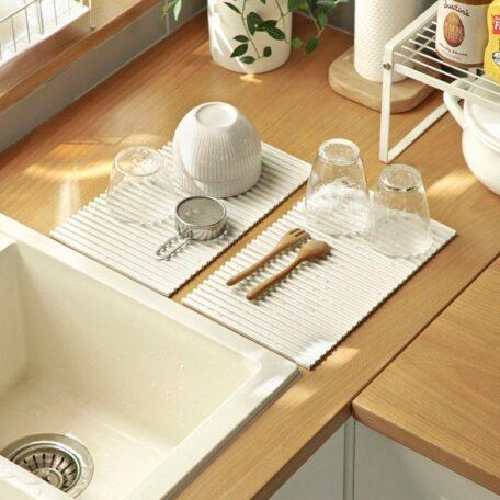 Easy Silicone Drying Mat Basin Sink Utensils Dinnerware Style Degree Sg Singapore