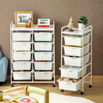Easy Slide Drawer Trolley Kids Baby Mum Storage Rack Bin Basket Style Degree Sg Singapore