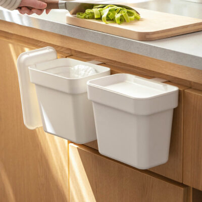 Kitchen Cabinet Hanging Dustbin (With Lid) Cabinet Door Trash Bin Cleaning Storage Style Degree Sg Singapore