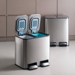 Magic Trash & Recycling Pedal Dustbin Trash Bin Kitchen Living Room Stainless Steel Home Style Degree Sg