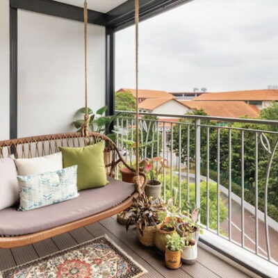 Balcony Living Room Extension, Balcony Living Room Extension ideas, Balcony swings, Style Degree, Singapore, SG, StyleMag.