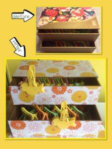Mooncake box storage, Repurpose mooncake box, Storage for clothes pegs, Mid-Autumn Festival, Style Degree, Singapore, SG, StyleMag