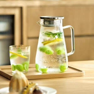 Everyday Glass Jar Pitcher (With Tea Filter) Water Jug Dining Table Kitchen Teapot Fruit Infuser Style Degree Sg Singapore