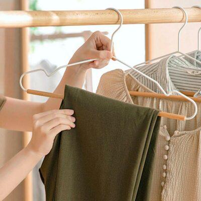 Scandinavian Clothes Hanger (5pc Set) Closet Wardrobe Hangers Style Degree Sg Singapore