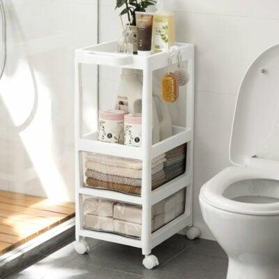 Drawer & Shelf Trolley Rack, Bathroom Rack, Laundry Rack, Rack with Wheels, 3-tier 4-tier rack, Singapore, SG, Style Degree