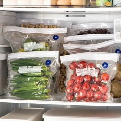 Vacuum Seal Food & Sandwich Bag Reusable Fridge Freeze Food Storage Bags Ziploc Zipper Style Degree Sg Singapore