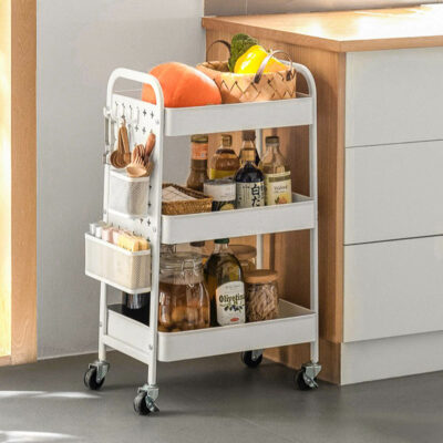 Versatile Trolley With Pegboard Kids Baby Toys Storage Rack Shelf Shelving Style Degree Sg Singapore