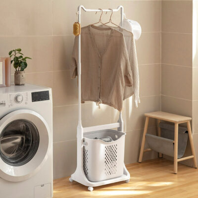 Multi Clothes Stand With Laundry Basket Hanger Clothes Style Degree Sg Singapore