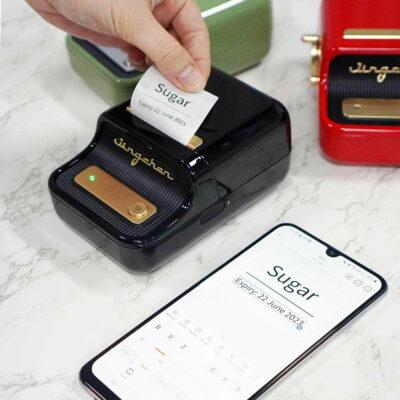 Retro Portable Label Maker & Printer Niimbot Mini Labelling Device Home Office Barcode Style Degree Sg Singapore