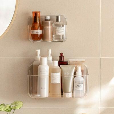 Clarity Wall Holder Bathroom Toilet Bottle Holder Wall Shelf Adhesive Style Degree Sg Singapore