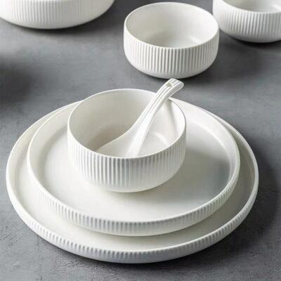Kitchenware Dinnerware Sets Singapore Embossed Dinnerware Sets Embossed Dish Set Embossed Ceramic Plate Ceramic Dish Set Durable Dish Sets Style Degree Sg Singapore